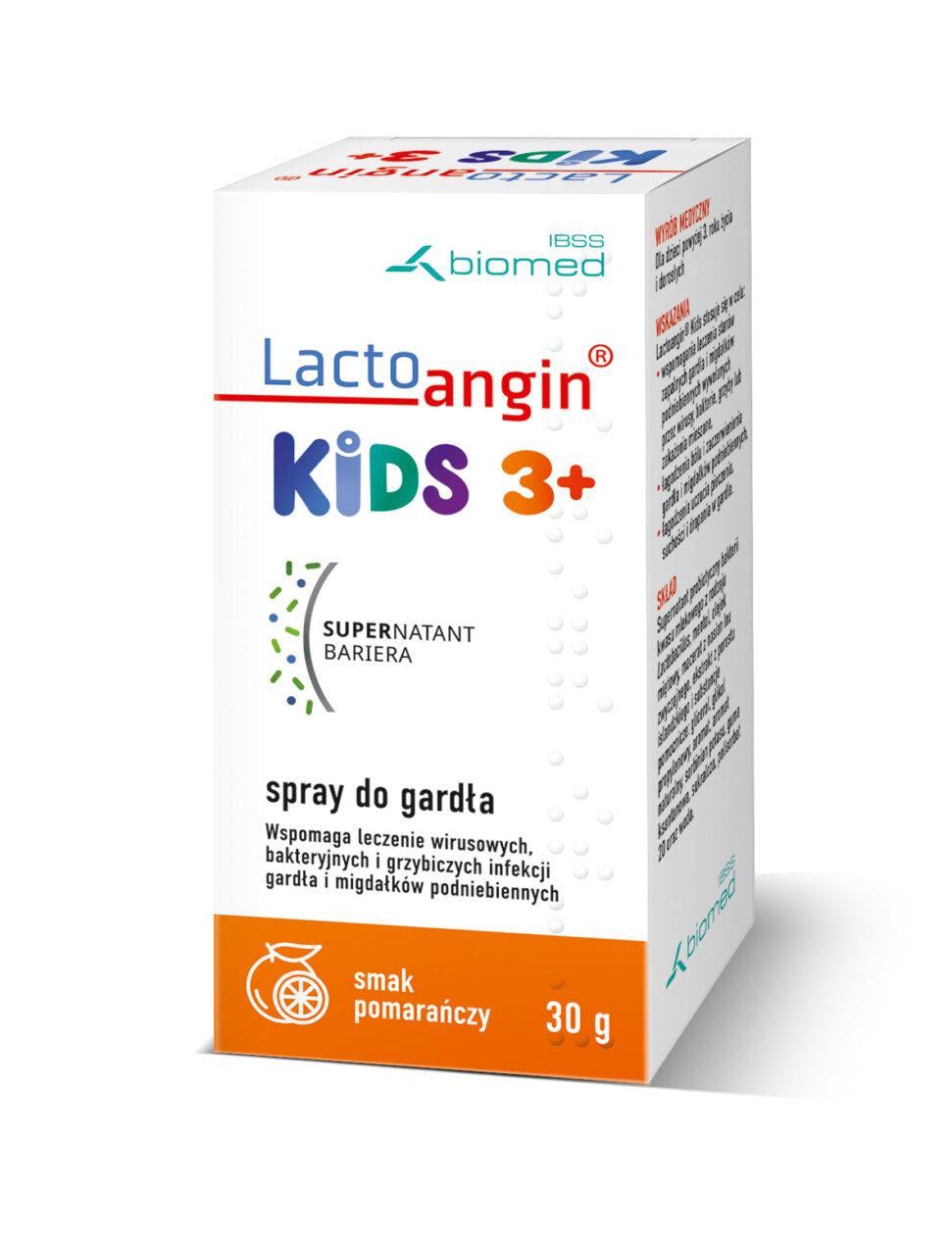 Lactoangin®KIDS spray do gardła smak pomarańczowy