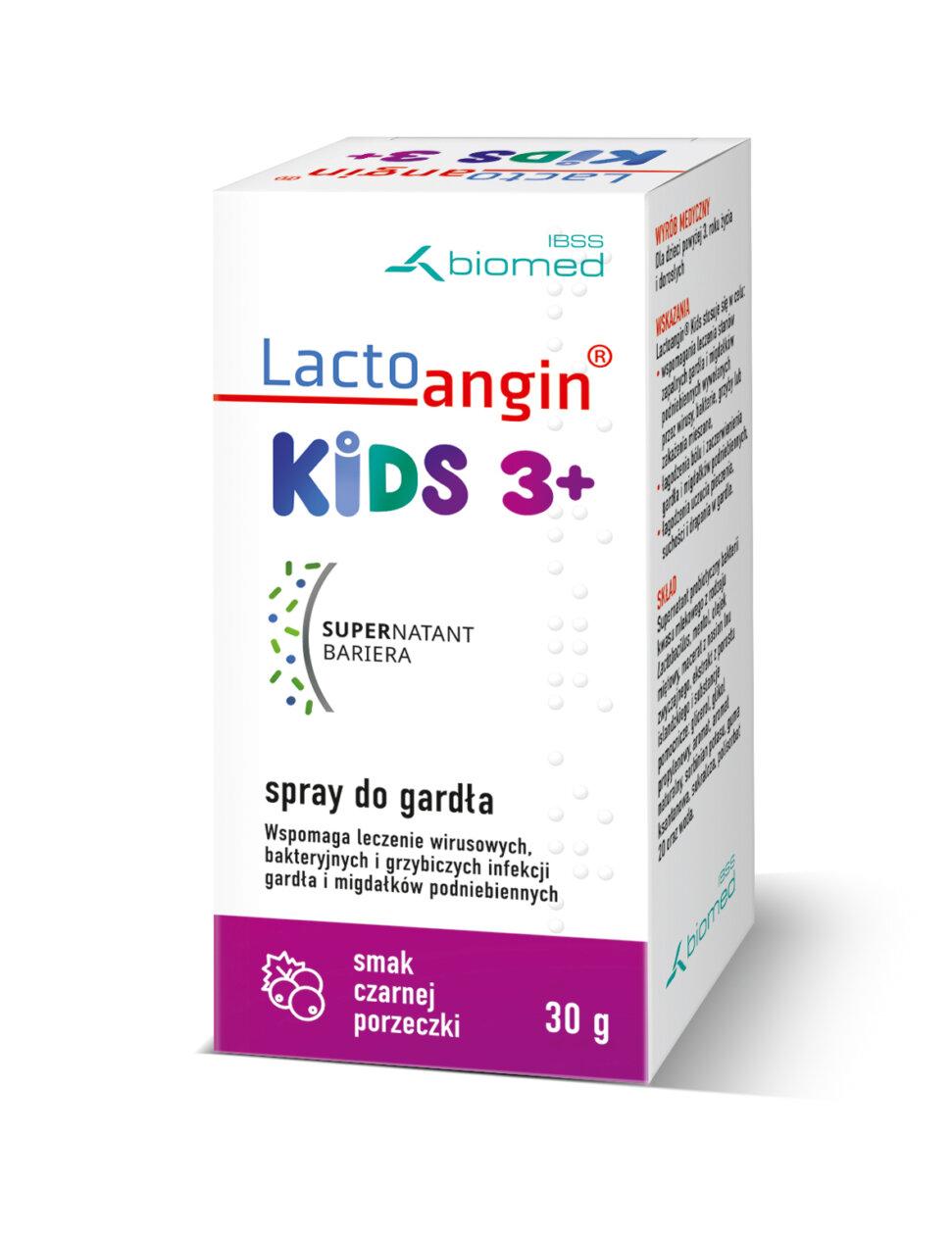 Lactoangin®KIDS spray do gardła smak porzeczkowy