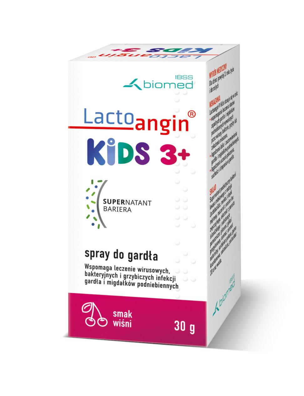 Lactoangin®KIDS spray do gardła smak wiśniowy